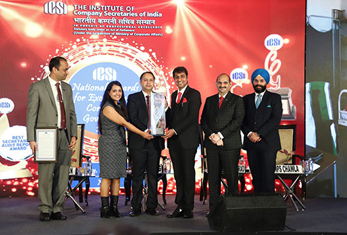Vedanta TSPL wins ICSI National Awards for 'Excellence in Corporate Governance'