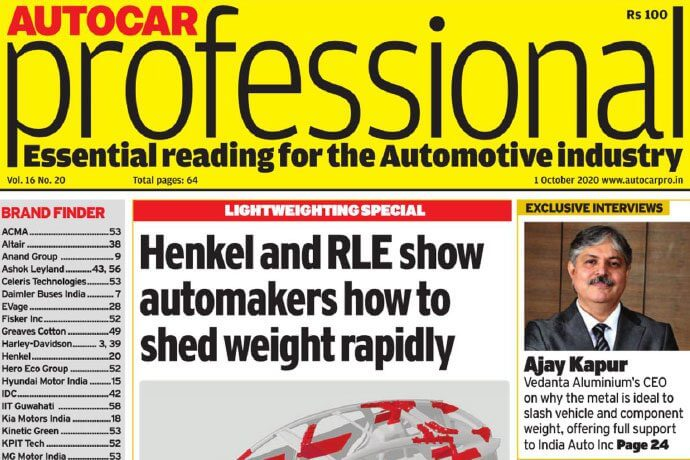 Mr. Ajay Kapur's exclusive interview with Autocar Professional.