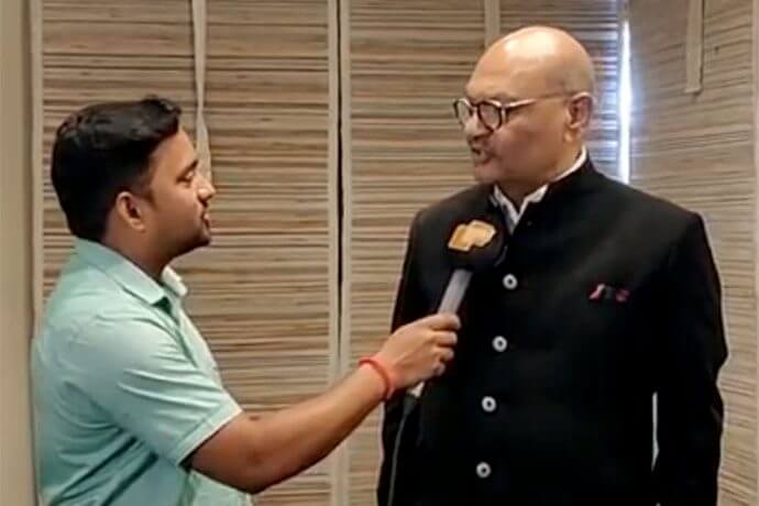 Mr. Anil Agarwal in conversation with OTV, during his visit to 'Make in Odisha' Conclave 2018.