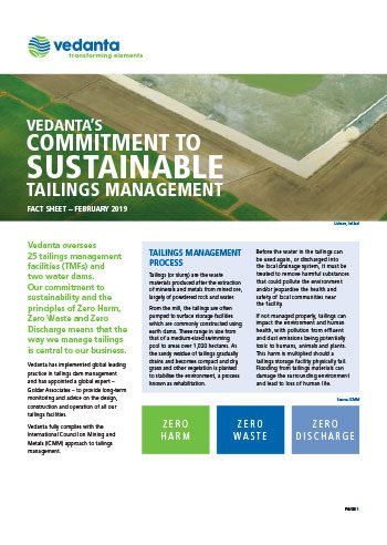 Sustainable Tailings
