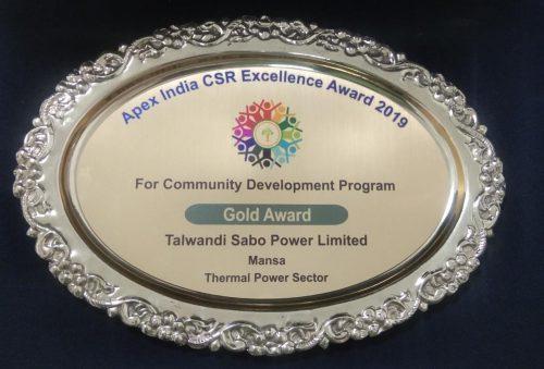 TSPL Wins Apex CSR 'Gold' Award for Community Development Program
