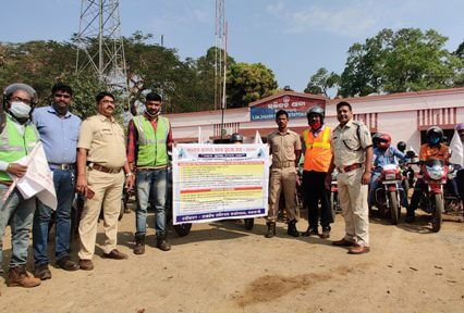 Vedanta organizes bike rally in Lanjigarh to spread awareness on Road Safety.