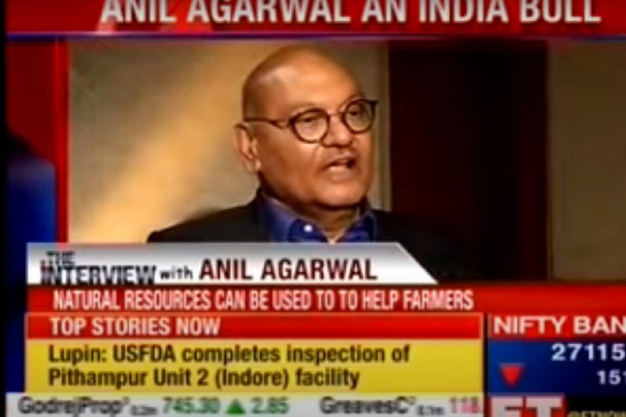 Vedanta Chairman Mr Anil Agarwal's interaction with ET Now.