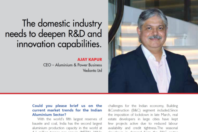 Aluminium To Play Significant Role In Supporting Critical And New-Age Industries.