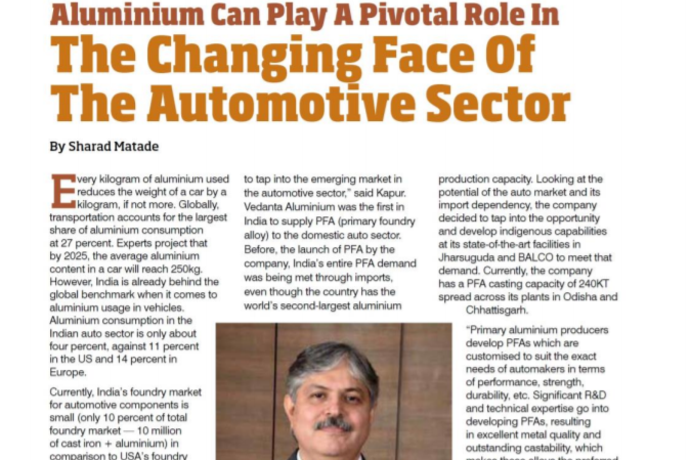 Aluminium can play a pivotal role in the changing face of the automotive sector.