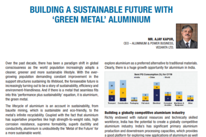 Building a sustainable future with 'Green Metal' aluminium.