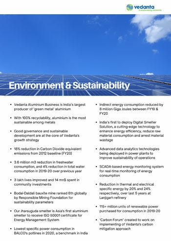 Environment & Sustainability