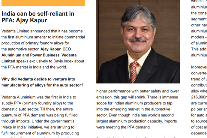 India can be self-reliant in aluminium Primary Foundry Alloy (PFA)