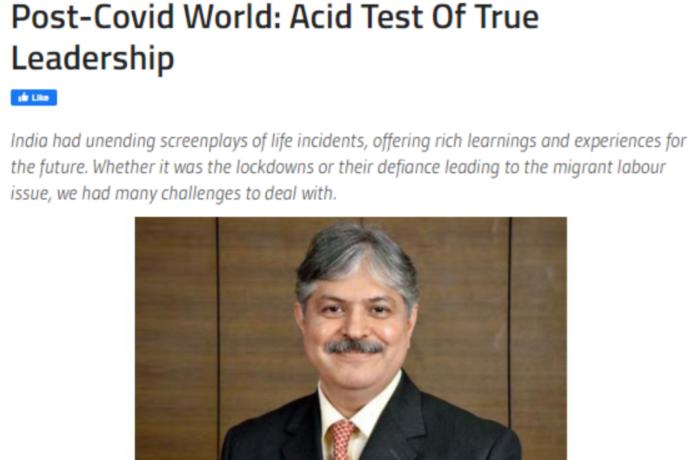 Post-Covid World: Acid Test Of True Leadership.