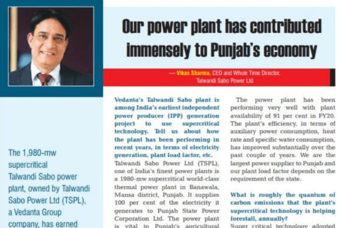 TSPL's contribution to Punjab's Economy.