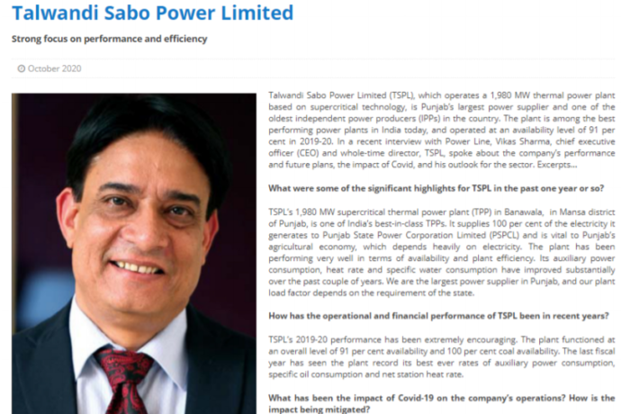 Talwandi Sabo Power Plant – Strong focus on performance and efficiency.