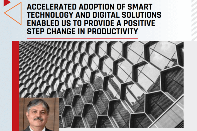 Accelerated adoption of smart technology and digital solutions for positive step change in productivity.