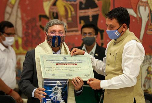 Vedanta Jharsuguda wins the Best Exporter Award by Govt. of Odisha
