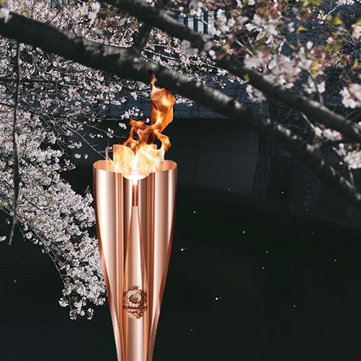 Aluminium, carrying the ceremonial Olympic flame forward