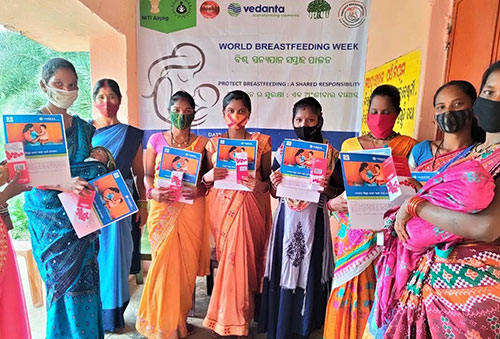 Vedanta Lanjigarh Conducts Weeklong Breastfeeding Awareness Programs